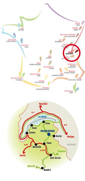 localisation-le-petit-dru-morzine